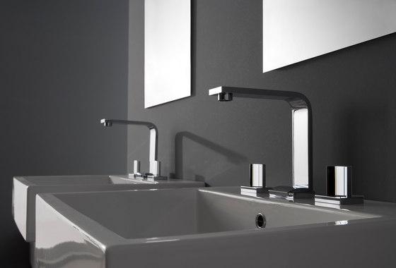 Targa - Three-hole washbasin mixer by Graff | Wash basin taps