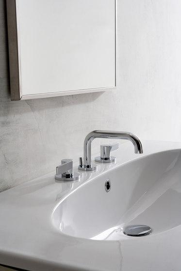 Terra - Three-hole washbasin mixer by Graff   Wash basin taps