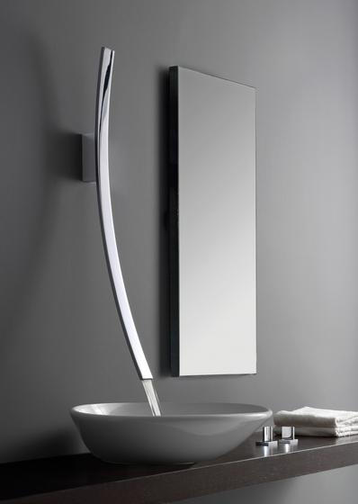 Luna - Wall-mounted washbasin spout by Graff | Wash basin taps