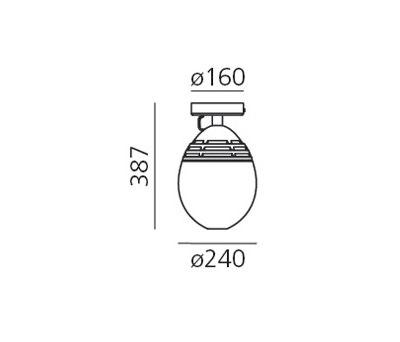 Incalmo 214 Deckenleuchte von Artemide | Deckenleuchten