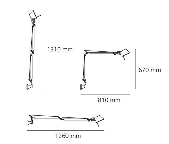 Tolomeo | Tolomeo Mini Applique LED de Artemide | Appliques murales