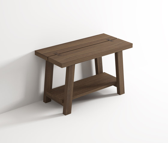 Stool with shelf by Idi Studio | Bath stools / benches