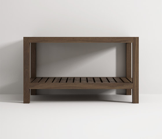 Bench with shelf de Idi Studio | Taburetes / Bancos de baño