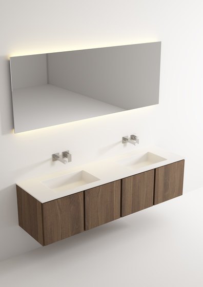 Move hanging cabinet 4 doors integrated double washbasin von Idi Studio | Waschtischunterschränke