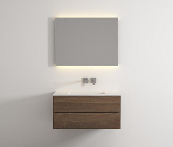 Move hanging cabinet 2 drawers integrated washbasin de Idi Studio | Armarios lavabo