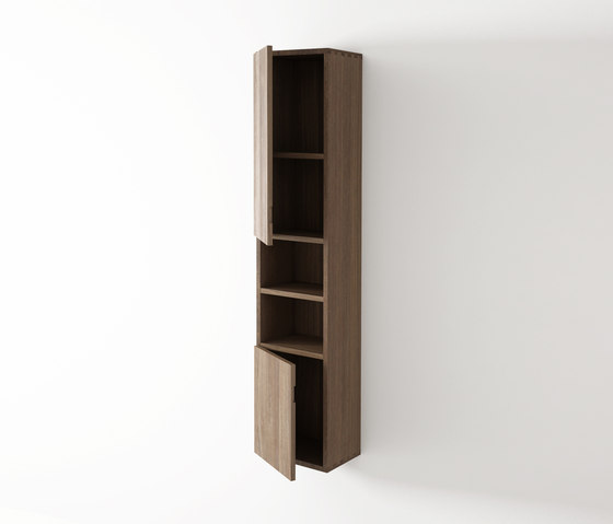 Move hanging rack 2 doors left 2 niches by Idi Studio | Wall cabinets