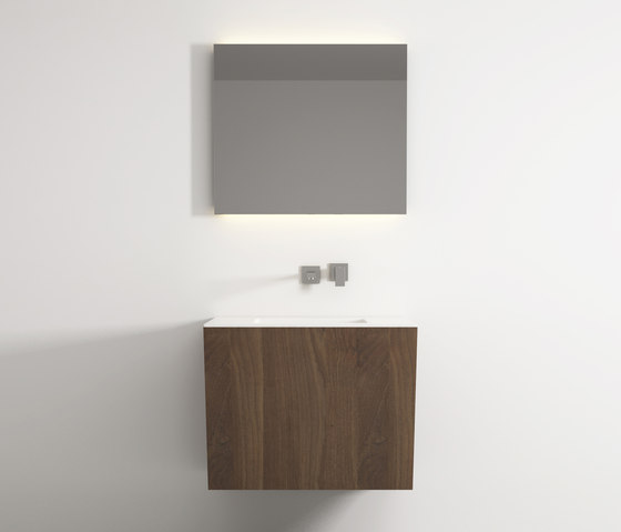 Root hanging cabinet 4 racks integrated washbasin de Idi Studio | Armarios lavabo