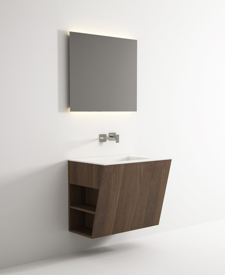 Root hanging cabinet 4 racks integrated washbasin de Idi Studio | Armarios lavabo