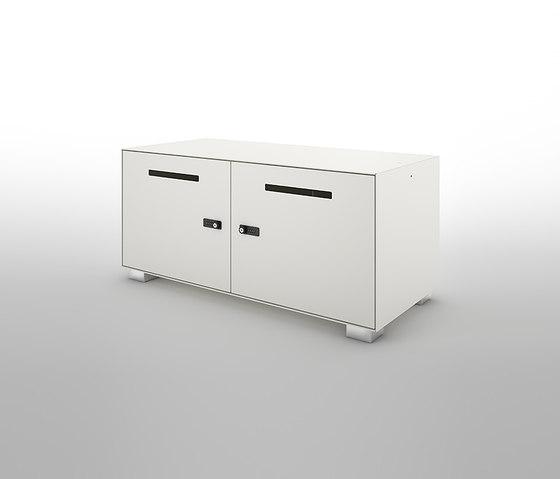 Primo 1000 Lockers | 2 door metal locker with slots by Dieffebi | Sideboards