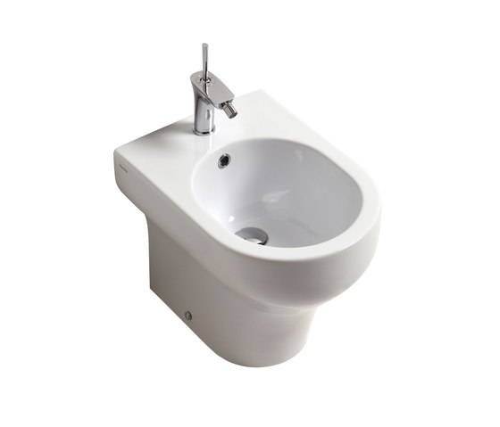 Clear - Bidet one hole back to wall by Olympia Ceramica | Bidets