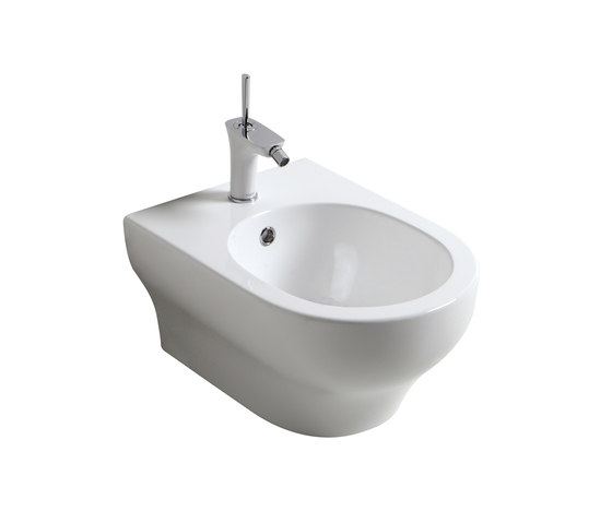 Clear - One hole wall hung bidet by Olympia Ceramica | Bidets