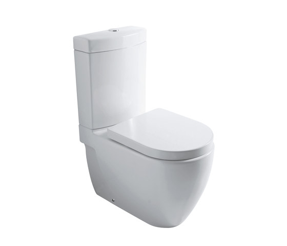 Nicole - Water closet pan with cistern bottom water entrance by Olympia Ceramica | WC