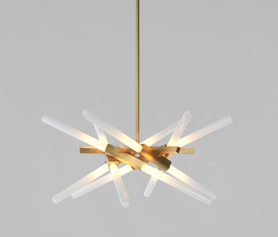 Astral Agnes 12 lights brushed brass by Roll & Hill | General lighting