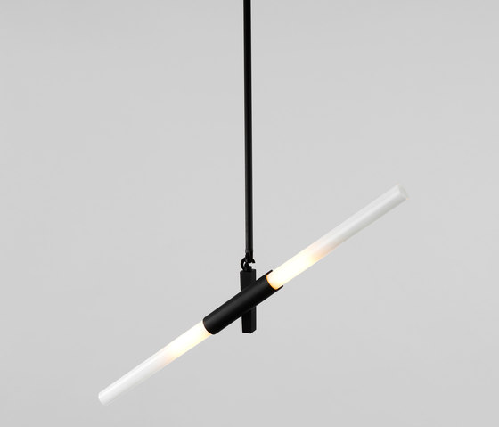 Agnes pendant 2 lights black by Roll & Hill | Suspended lights