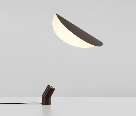 Bounce Small Shade (Bronze/Bronze) by Roll & Hill | Floor lights