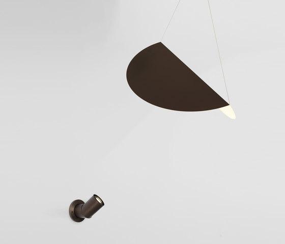 Bounce wall mount lamp bronze + small shade bronze von Roll & Hill | Allgemeinbeleuchtung