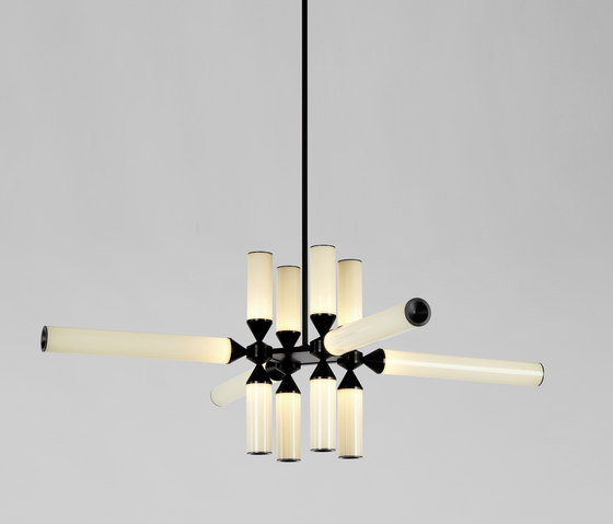 Castle 12-01 (Black/Cream) by Roll & Hill   Suspended lights