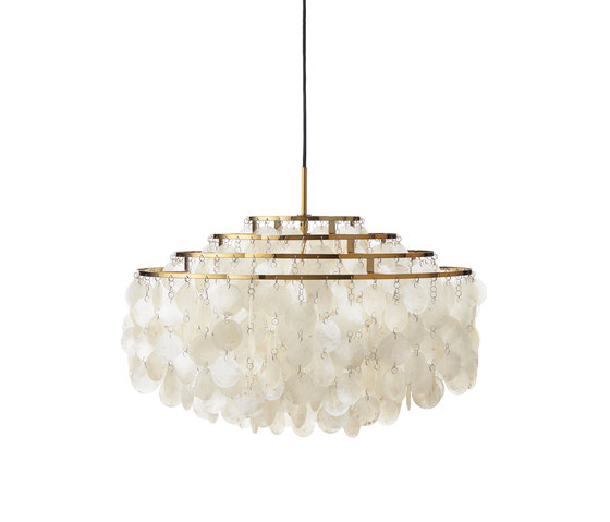 Fun Mother of Pearl 10DM | Pendant Brass by Verpan | Suspended lights