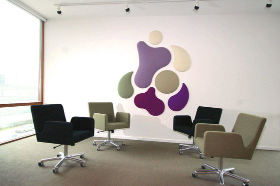 Woolbubbles® The Rose by Wobedo Design | Sound absorbing wall systems