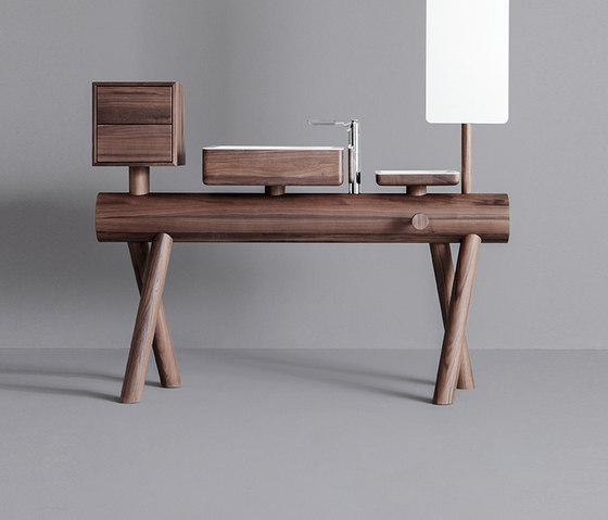 Dressage - Stand alone vanity in solid wood de Graff | Armarios lavabo