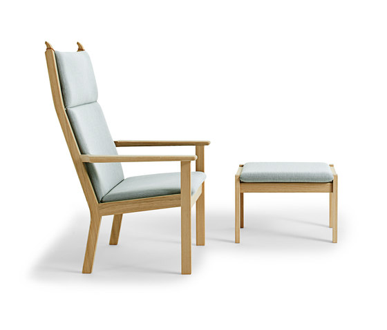 GE 284A High Back Easy Chair with footstool de Getama Danmark | Sillones