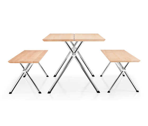 X-Table and Bench by Piiroinen | Tables and benches