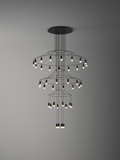 Wireflow Chandelier by Vibia | Suspended lights