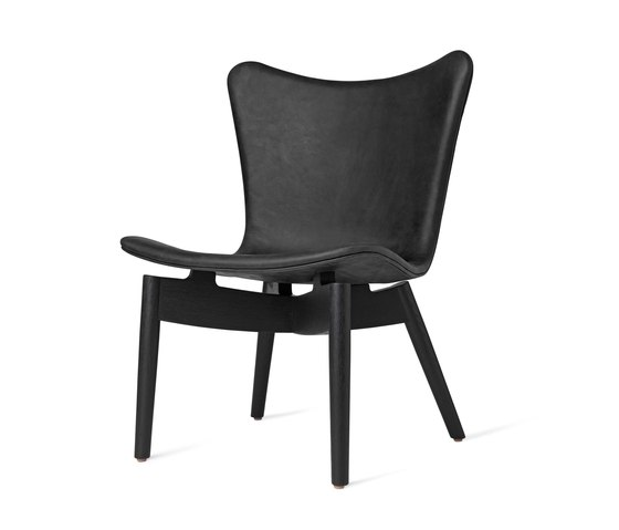 Shell Lounge Chair - Dunes Anthrazit - Black Oak by Mater | Armchairs