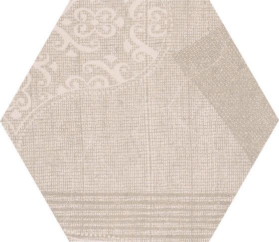Gesso Esagona Patchwork Taupe Linen von EMILGROUP | Keramik Mosaike