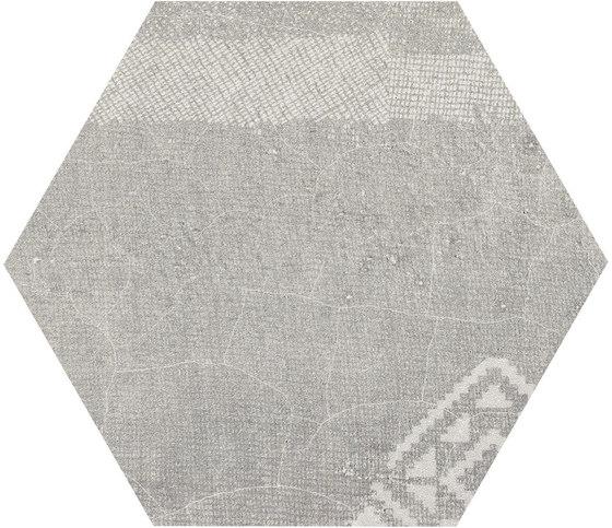 Gesso Esagona Patchwork Pearl Grey by EMILGROUP   Ceramic mosaics