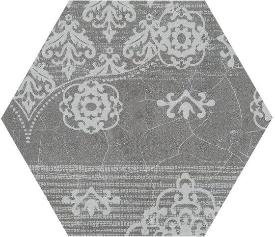 Gesso Esagona Patchwork Black Velvet von EMILGROUP   Keramik Mosaike
