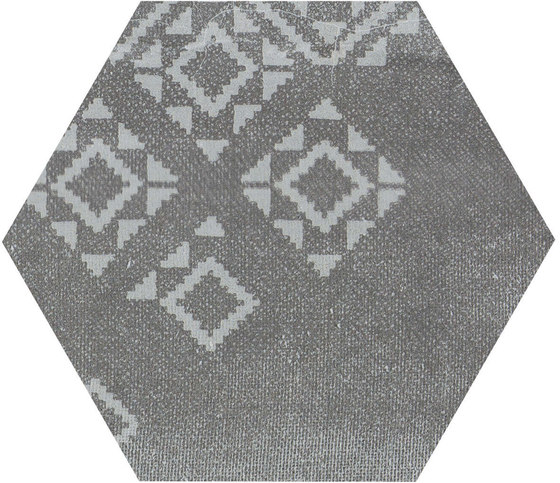 Gesso Esagona Patchwork Black Velvet von EMILGROUP | Keramik Mosaike