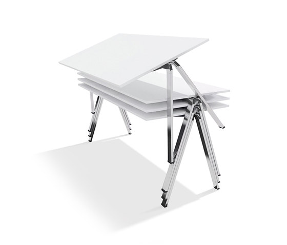yuno stacking table by Wiesner-Hager | Contract tables