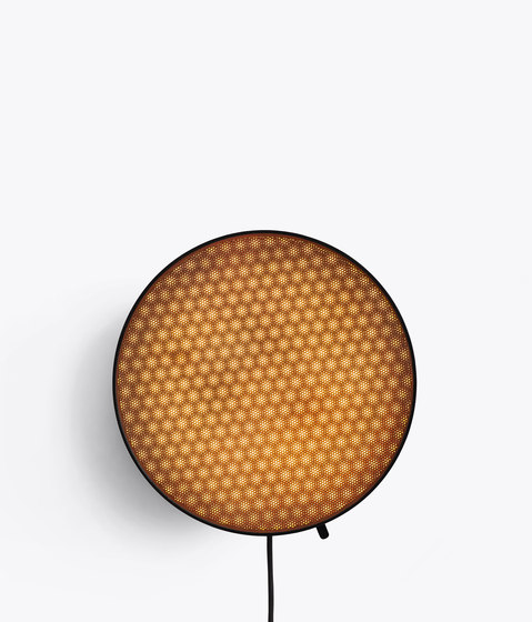 Moiré Wall Light   Hexagon   Copper by NEW WORKS   Wall lights