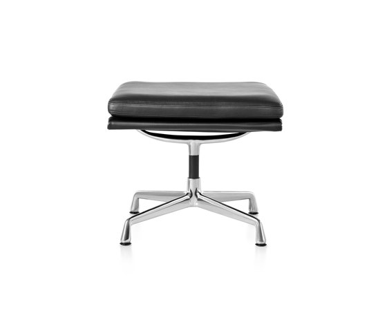 Eames Aluminum Group Soft Pad Ottoman by Herman Miller | Poufs