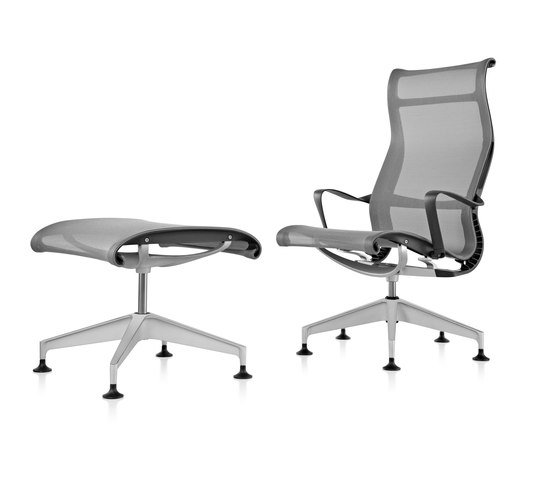 Setu Lounge Chair and Ottoman by Herman Miller | Armchairs