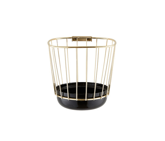 Canasta - Small black bowl & brass cage by Incipit Lab srl | Bowls