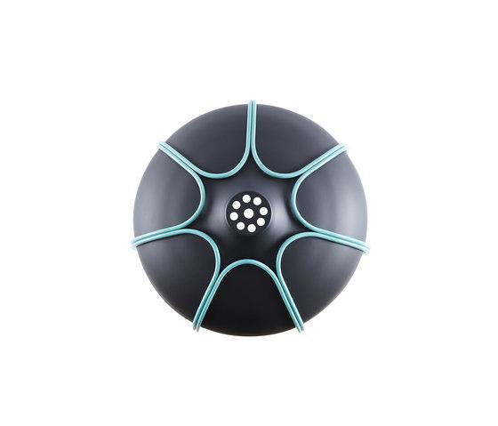 Tull - Desk/floor anthracite/turquoise de Incipit Lab srl | Table lights