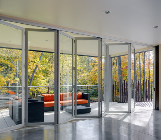 Folding Doors - Aluminum | Zinc House by LaCantina Doors | French doors