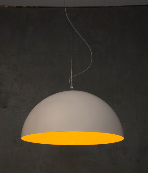 Mezza Luna blanc/orange de IN-ES.ARTDESIGN | Suspensions