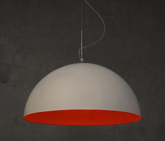 Mezza Luna blanc/rouge de IN-ES.ARTDESIGN | Suspensions