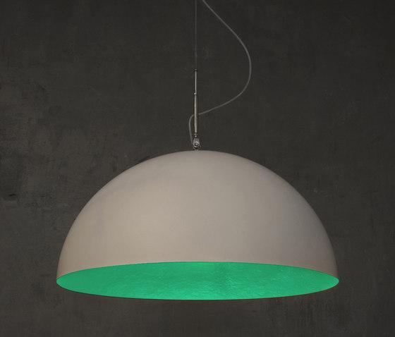 Mezza Luna blanc/turquoise de IN-ES.ARTDESIGN | Suspensions