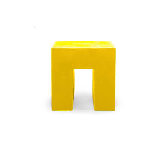 Vignelli Cube | Model 1030 | Yellow by Heller | Garden stools