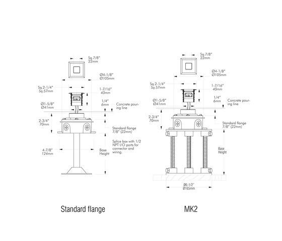 L304 | 316 marine grade by MP Lighting | Recessed wall lights