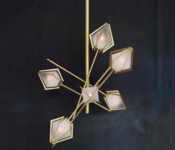 HARLOW Small Chandelier by Gabriel Scott | Suspended lights
