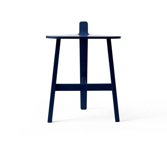 Bronco Stool black blue by Karakter Copenhagen | Poufs
