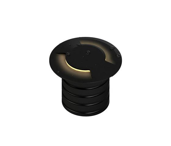L08 double | black anodized von MP Lighting | Wandeinbauleuchten