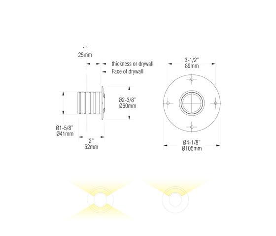 L09 double   white di MP Lighting   Lampade parete incasso