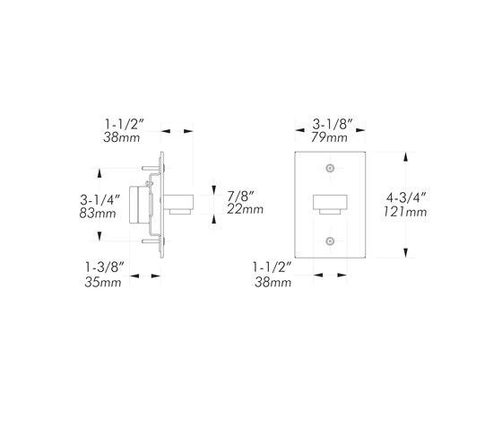 L14 | matte chrome di MP Lighting | Lampade parete incasso
