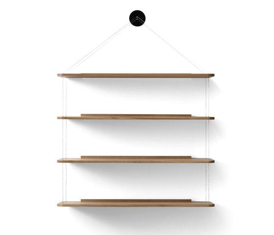 Wire Bookcase oak by Karakter   Shelving